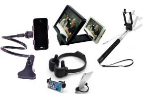 Mezire Selfie Stick Accessory Combo for Apple iPhone, LG Optimus L7, Apple, Samsung, Note, Mircomax, Karbonn, Motorola, Sony, Xperia, HTC, Galaxy, Tab, Gionee, Xiomi, Coolpad, OnePlus, Nokia, Lava, Xolo, Acer, ZenPhone, LG, Asus