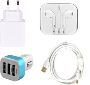 Cell Planet Wall Charger Accessory Combo for Apple iPhone 5SWhite