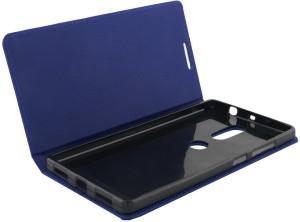 Celzo Flip Cover for Lenovo Phab 2 Plus (6.4)Blue, Artificial Leather