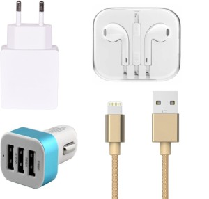 Mudit Retail Ventures Wall Charger Accessory Combo for Apple iPhone 5SWhite