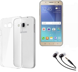 Mocell Soft Back Cover For Samsung Galaxy J7 With Ultra Clear Screen Guard & 3.5mm Earphone Accessory Combo