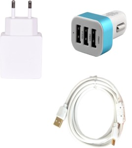 Mudit Retail Ventures Wall Charger Accessory Combo for Lava Iris Fuel F1