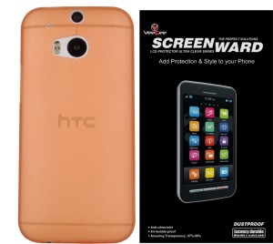 timeless design cb373 bd1da VeeGee Polycarbonate Matte Case Back Cover for HTC One (M8 Eye) (Frosted  Orange) + Screen Protector Accessory Combo