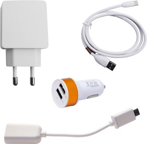 Zebron Wall Charger Accessory Combo for Xiaomi Redmi Note 4G