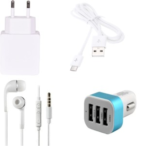 Go4Shopping Wall Charger Accessory Combo for Lenovo K4 Note