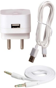 Trost Wall Charger Accessory Combo for Huawei Honor Holly 2 Plus