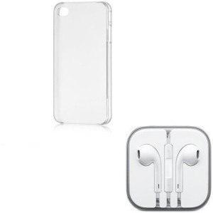 Cell Planet Head Phone, Transparent Back Cover, Combo Set for iPhone 5s Accessory Combo