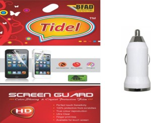 Tidel Ultra Clear Hd Screen Guard For Samsung Galaxy Star Advance Sm-G350e With Usb Car Charger Accessory Combo