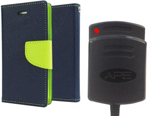 Ape Dairy Cover and Battery charger for Sony Xperia T2 Ultra Accessory Combo