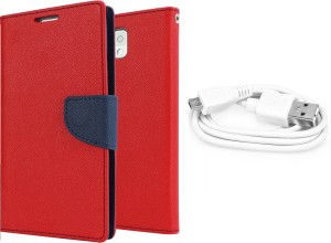 Ape Diary Cover and Data Cable for Samsung Galaxy Grand 2 G7106/G7102 Accessory Combo