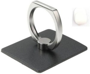 VU4 Finger Grip Ring Stand Black Mobile Holder