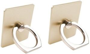 NewveZ Universal Metal Ring 360 Degree Rotating Kickstand Set of 2 Gold Mobile Holder