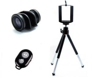 Smiledrive 3 IN 1 SIDE CAP LENS KIT WITH BLUETOOTH SHUTTER, MOBILE TRIPOD Mobile Phone Lens