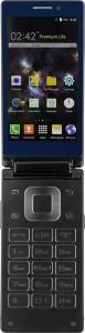 Kara T2 Android Dual Screen Flip Phone (Blue, 8 GB)
