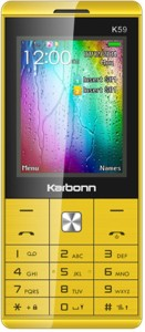 Karbonn K59 Dual Sim - Yellow & Black