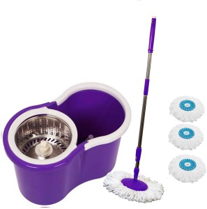 ThunderFit CLASSIC THUNDER MOP WITH 3 MICRO FIBERS ((( COLOUR MAY VARY AS PER AVAILABLRTY))) Mop Set