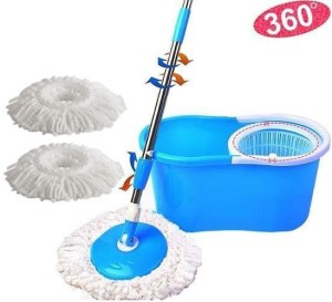 Everything Imported Spin mop and Bucket System Self Wringing with 3 refill heads Mop Set