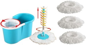 Everything Imported EasyLife Magic Twin Bucket Super Spin with 4 Mopheads Mop Set
