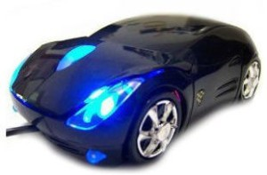Shrih Ferrari Race Car Shaped Wired Optical Mouse