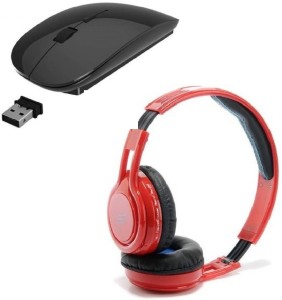 ROQ TM002 Wireless Bluetooth Headphone With Ultra Slim Wireless Optical Mouse