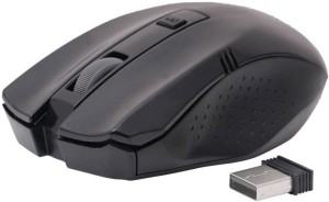 Adnet 2.4Ghz With Nano Receiver Black Wireless Optical Mouse
