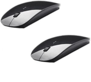 Outre 2PC 2.4Ghz Ultra Slim Wireless Optical Mouse