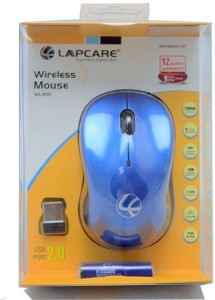 Lapcare WL300 Wireless Mouse Wireless Optical Mouse USB, Blue