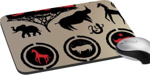 meSleep Saint African Animal Print Mousepad