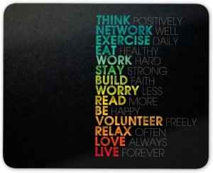 Digiclan Think Positive Mouse Pad Mousepad