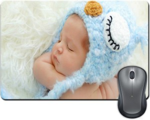 ShopMantra Cute Baby Sleeping Woolen Cap Mousepad