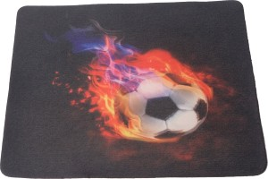 Speed Rubber Black Picture Football Mousepad