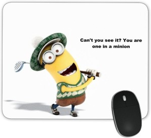 Digiclan Can't you see Minions Mouse pad Mousepad