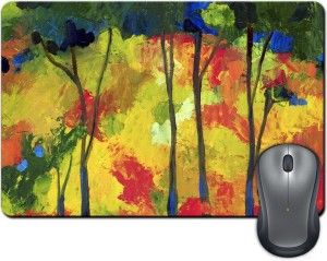 ShopMantra Abstract Tree Painting Brush Effects Mousepad