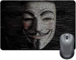 Rangeele Inkers Vendetta Typography Mask Mousepad