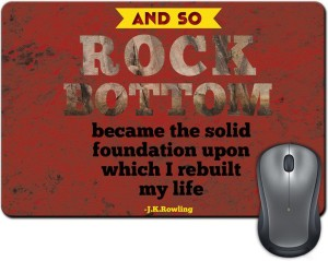 ShopMantra And So Rock Bottom Quote Mousepad