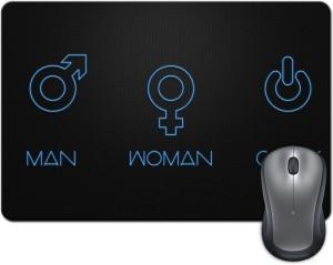 Rangeele Inkers Man Woman Geek Mousepad