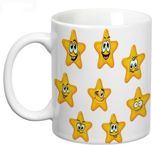 Prithish Smiley Stars Ceramic Mug