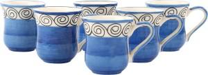 Kittens Handpainted Pitcher Ceramic Mug