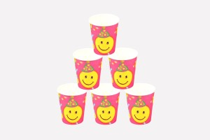 Funcart Smiley Party Paper Mug