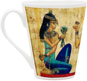 HomeSoGood Egyptian Princess Ceramic Mug