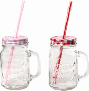 54777a19558 DUCATI CLASSY MASON JAR Glass Mug 485 ml Pack of 2 Best Price in ...