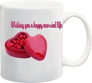 awwsme wishing you happy married life bone china mug