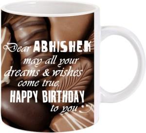 Lolprint Happy Birthday Abhishek Ceramic Mug 325 Ml Best Price In