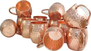 Dakshcraft Set of 12, Cups Copper Mug