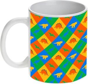 Prithish Dinosaur Design 6 Ceramic Mug