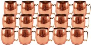 Indian Art Villa Set Of Moscow Mule Round Hammer Cup Restaurant Bar Hotel Ware Copper Mug