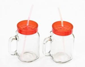 29f08559fc0 CraftJunction Mason Jar Glass Glass Mug 250 ml Pack of 2 Best Price ...