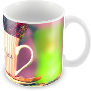 Creative Good Morning Love Wishes With Tea Cup Ceramic Mug 350 Ml