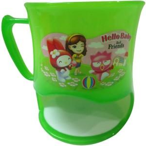 DCS Cartoon Embrosed Print Juice / Coffee for Kids - Green Plastic Mug50 ml
