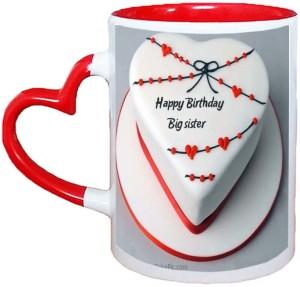 Muggies Magic Happy Birthday Cake Red Heart Handle 11 Oz Ceramic Mug